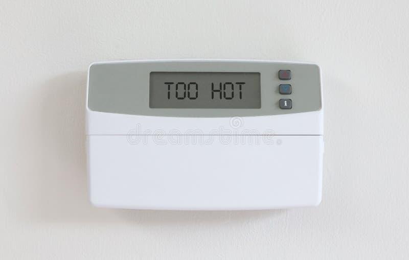 Винтажный цифровой термостат - убежище в пыли - слишком горячей стоковое изображение