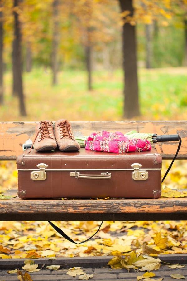 Винтажный чемодан стоковые фотографии rf