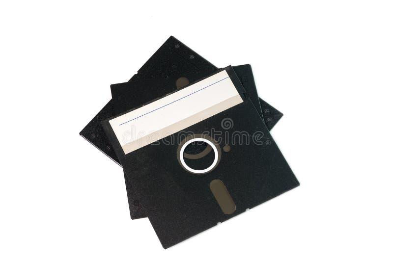 Винтажный черный диск на белой предпосылке стоковое фото