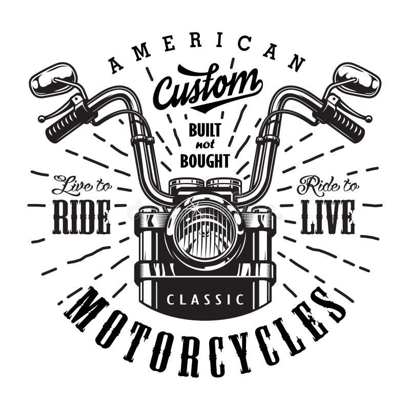 Винтажный шаблон логотипа мотоцикла бесплатная иллюстрация