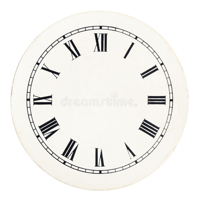 Винтажный шаблон часового циферблата стоковые изображения