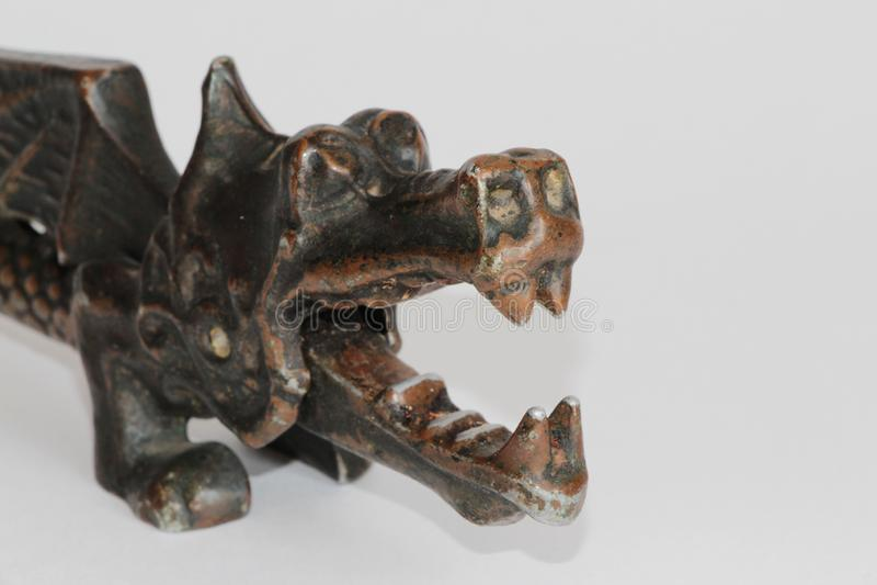 Винтажный Щелкунчик в форме дракона стоковое фото