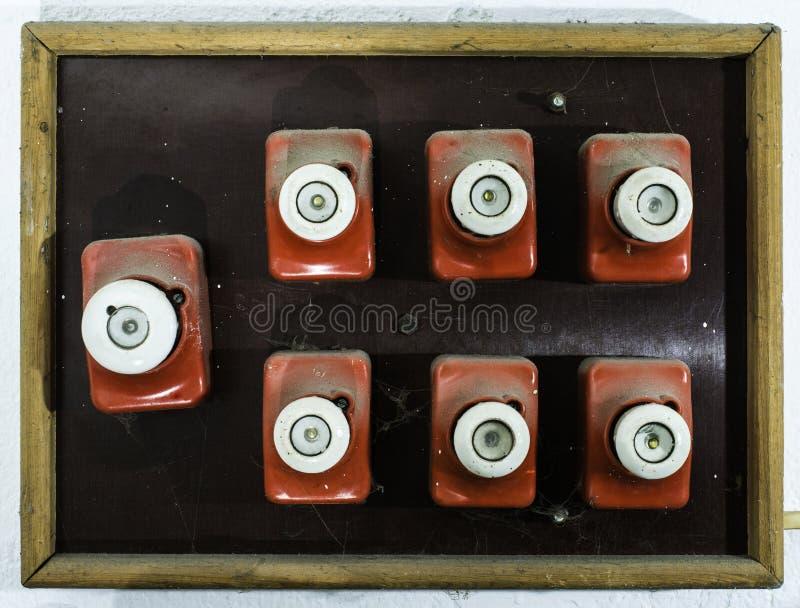 Винтажный электрический взрыватель стоковое фото