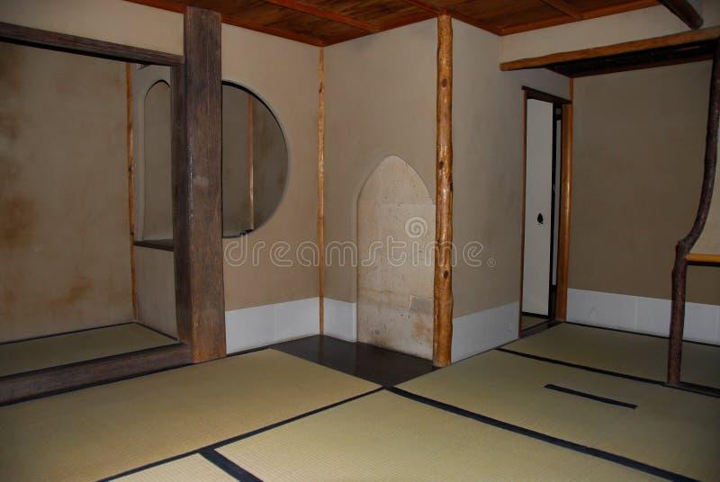 Винтажный японский интерьер дома дзэна стоковое фото rf