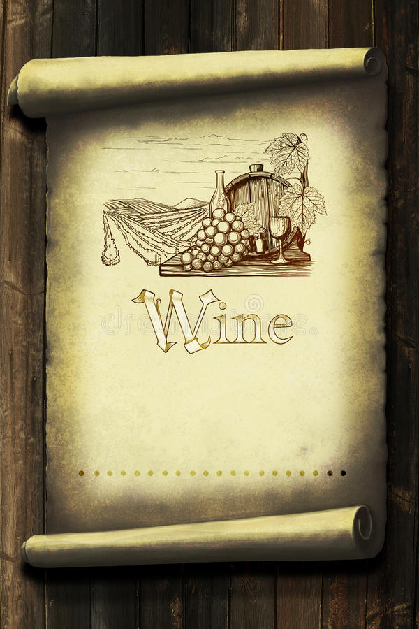 Винтажный ярлык вина бесплатная иллюстрация