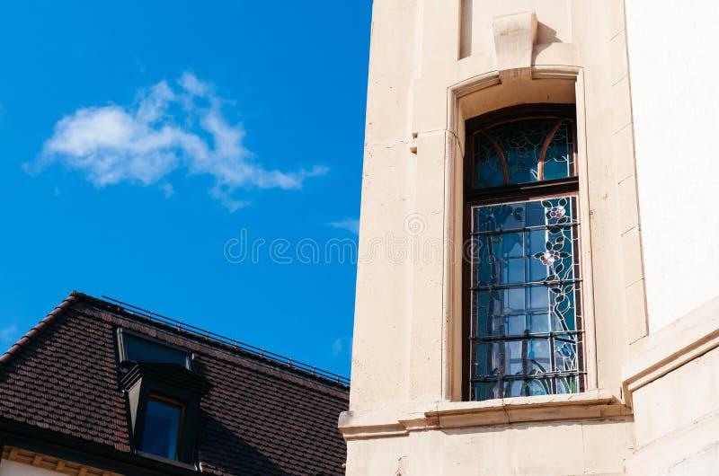 Винтажный buildiing Ла Chaux de Fonds, Швейцарии стоковые изображения rf