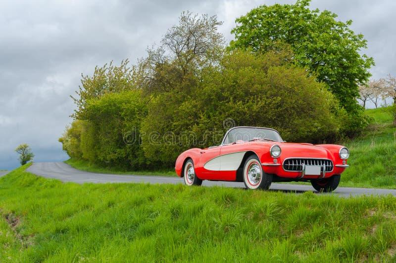 Винтажный Chevrolet Corvette стоковое изображение rf
