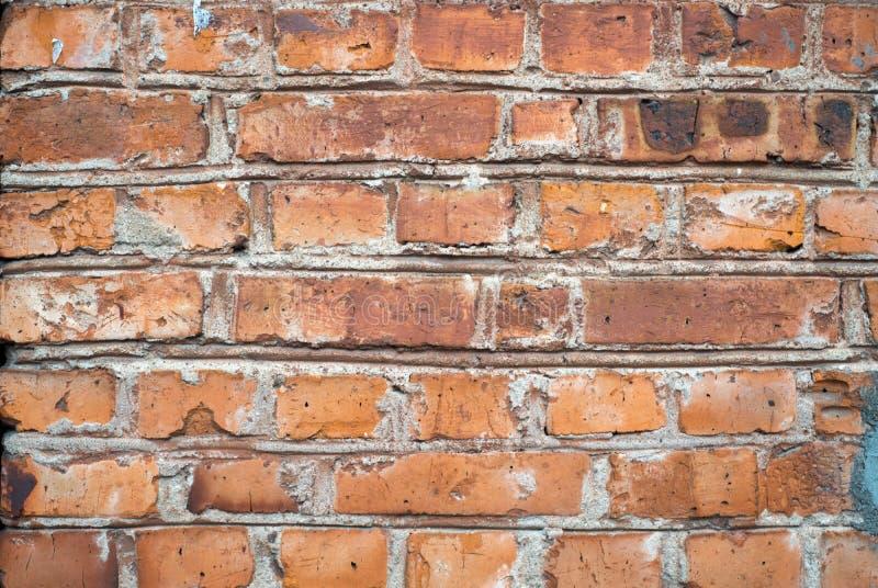 Винтажный grunge и старая краснокоричневая кирпичная стена текстурируют предпосылку стоковые фотографии rf