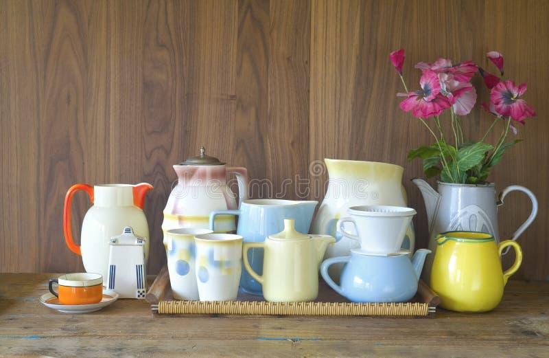 Винтажный kitchenware стоковое фото