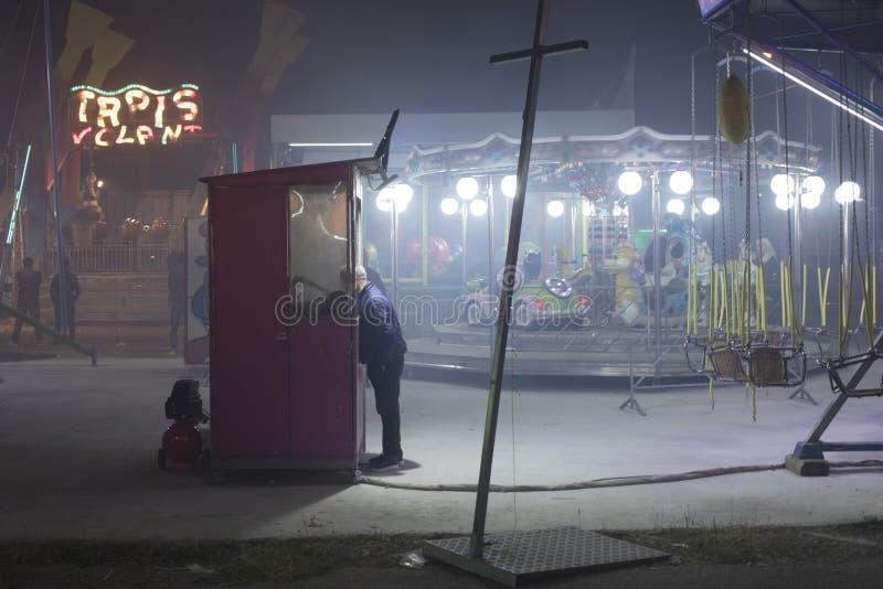 Винтажный Luna Park стоковое изображение