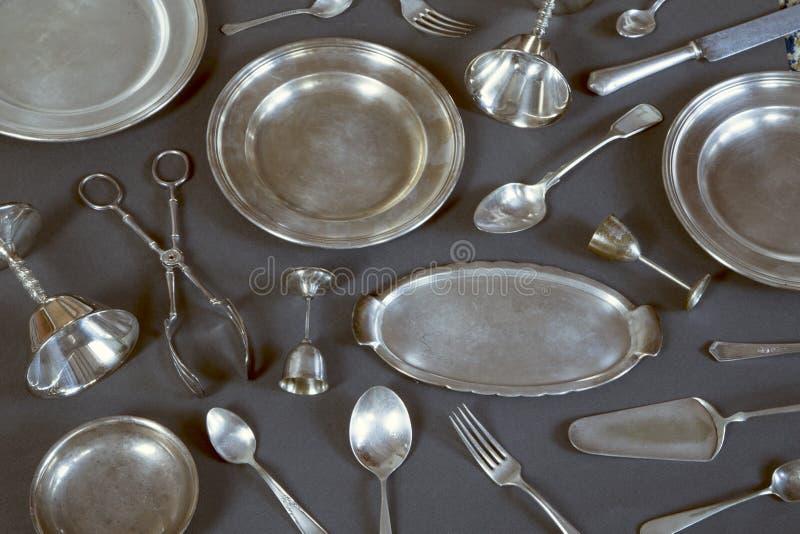 Винтажный silverware стоковое изображение