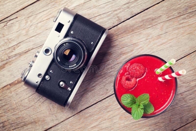 Винтажный smoothie камеры и поленики стоковые изображения rf