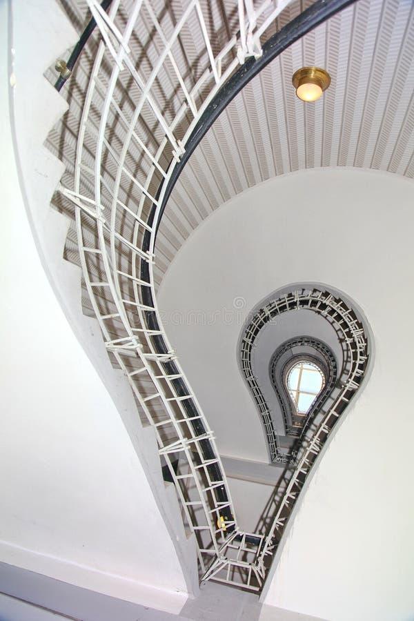 Винтовая лестница, музей Праги чехословакского кубизма стоковые фотографии rf