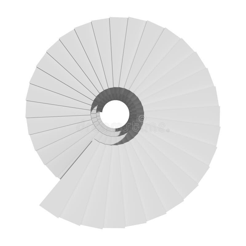 Винтовая лестница изолированная на белой предпосылке в финансовом busin бесплатная иллюстрация