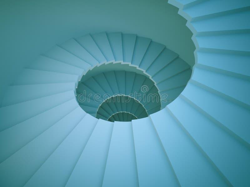 винтовая лестница иллюстрация штока