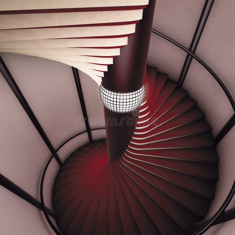винтовая лестница иллюстрация вектора