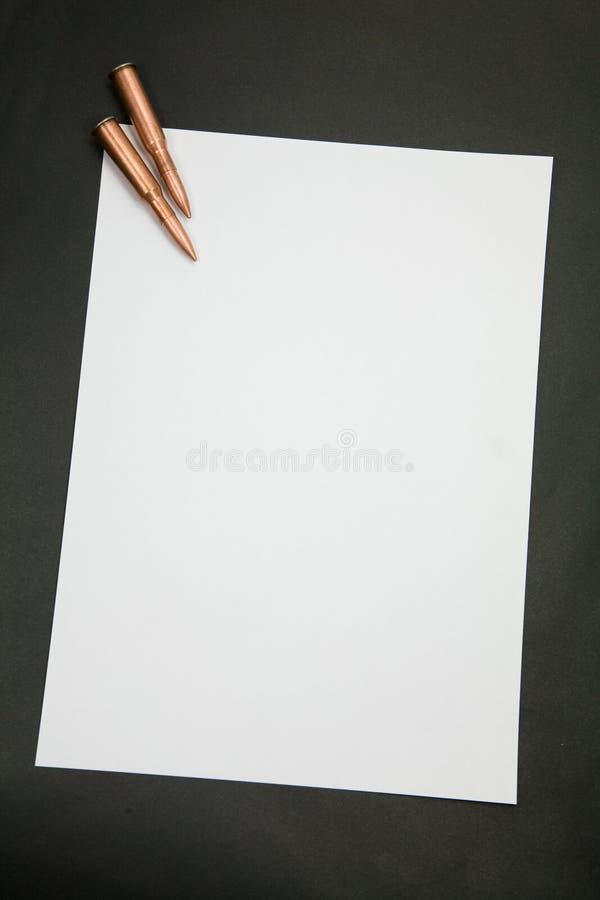 винтовка письма пули стоковые изображения