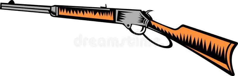 винтовка winchester иллюстрация вектора