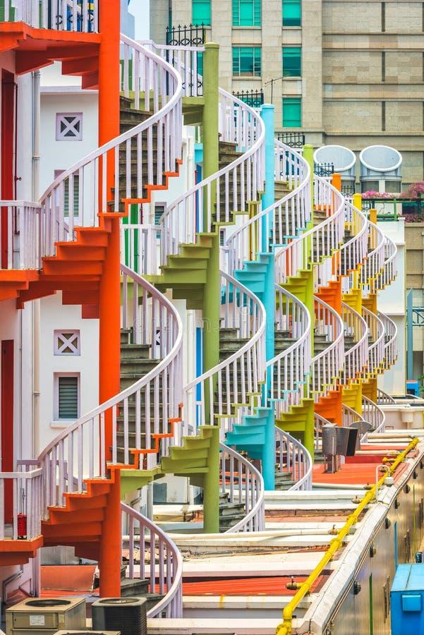 Винтовые лестницы Сингапура стоковая фотография