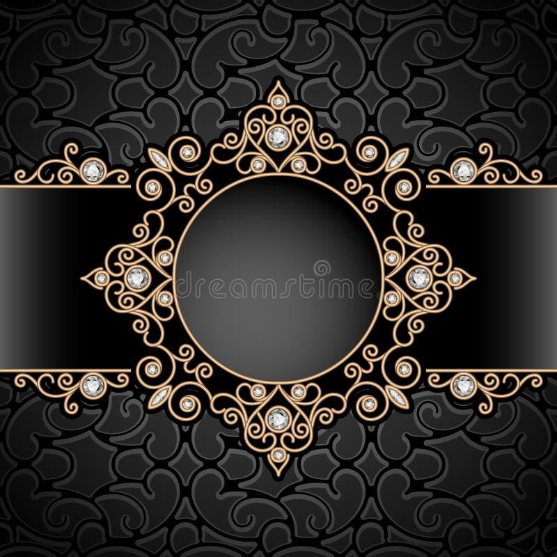 Виньетка ювелирных изделий золота бесплатная иллюстрация