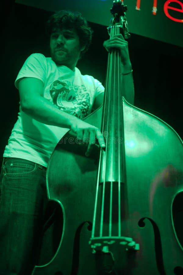 Виолончель джаза стоковое фото