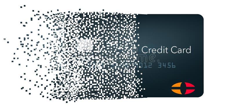 Виртуальная кредитная карточка также как карта облака или цифровая кредитная карточка Показано изолированный на предпосылке иллюстрация вектора