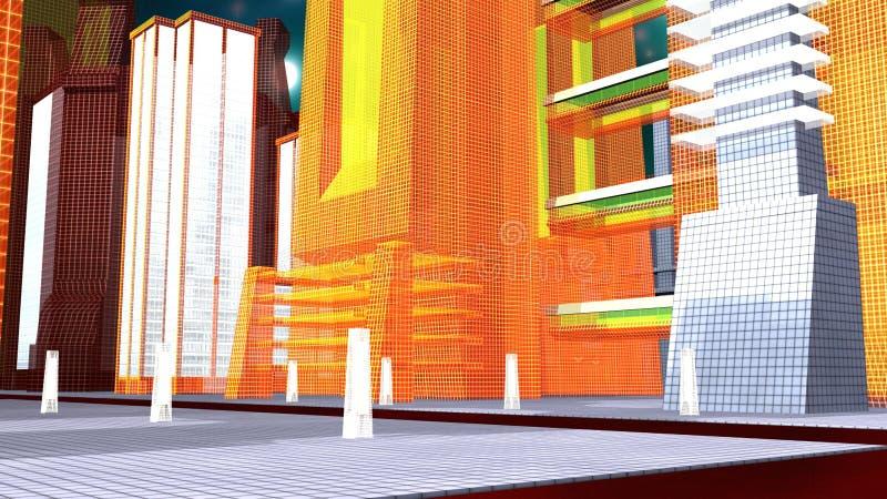 Виртуальная метрополия иллюстрация вектора