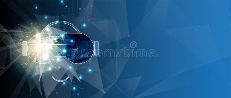 Виртуальная реальность в предпосылке технологии жизни будущей бесплатная иллюстрация