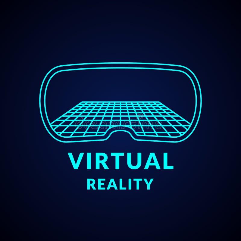 Виртуальная реальность и новые технологии для игр Современный комплекс развлечений иллюстрация вектора