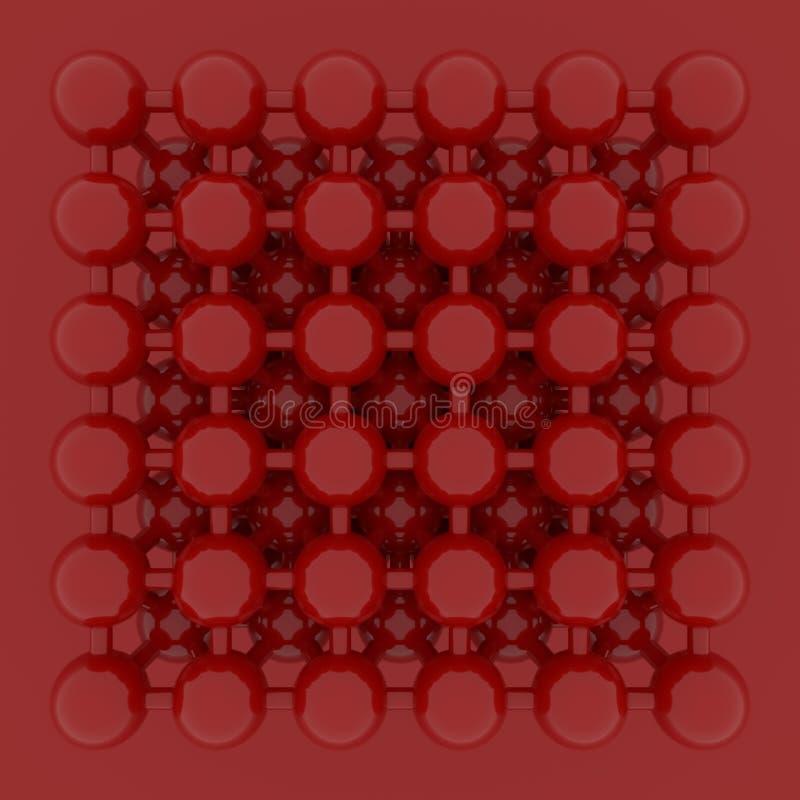 Виртуальное геометрическое, concepture стиля молекулы, блокировать сфера для текстуры дизайна, предпосылки E иллюстрация вектора