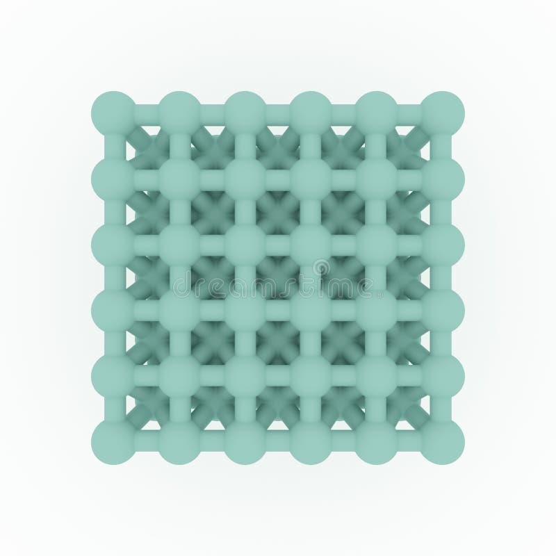 Виртуальное геометрическое, concepture стиля молекулы, блокировать сфера для текстуры дизайна, предпосылки E бесплатная иллюстрация