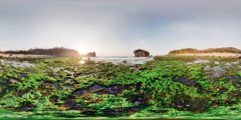 Виртуальное фото пляжа Jungwok 360 градусов стоковое фото