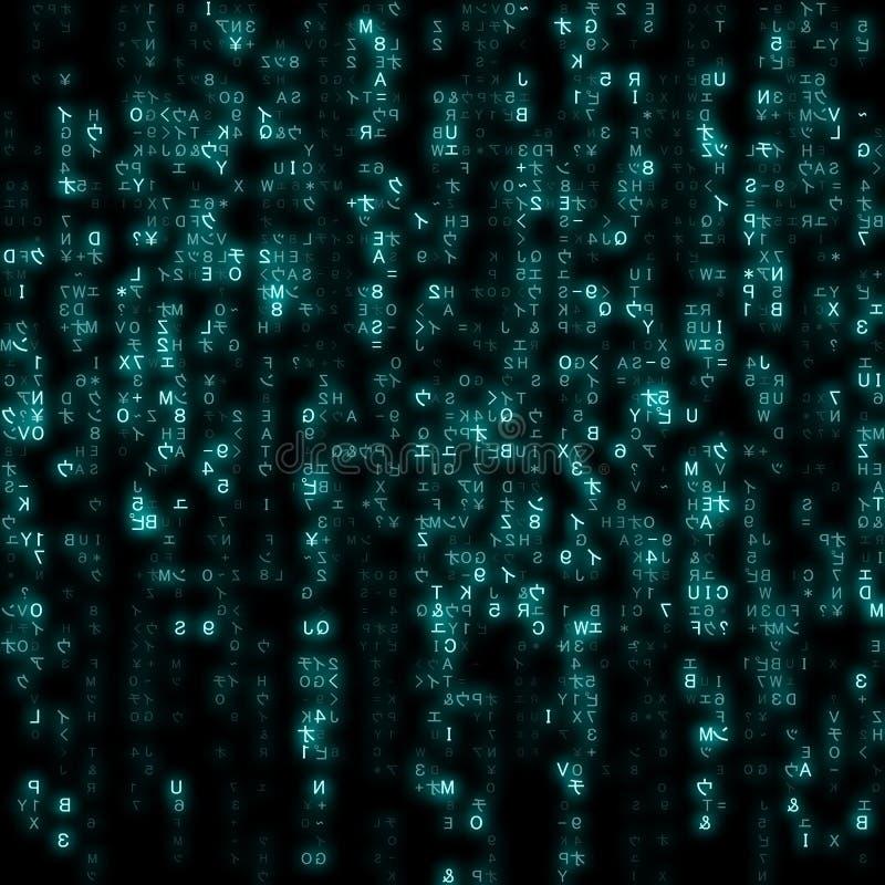 Виртуальная реальность, предпосылка технологии конспекта голубая, иллюстрация вектора бесплатная иллюстрация