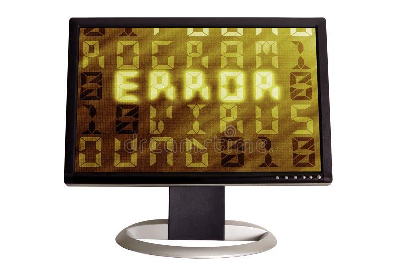 вирус программы ошибки электронно-вычислительной машины стоковое фото