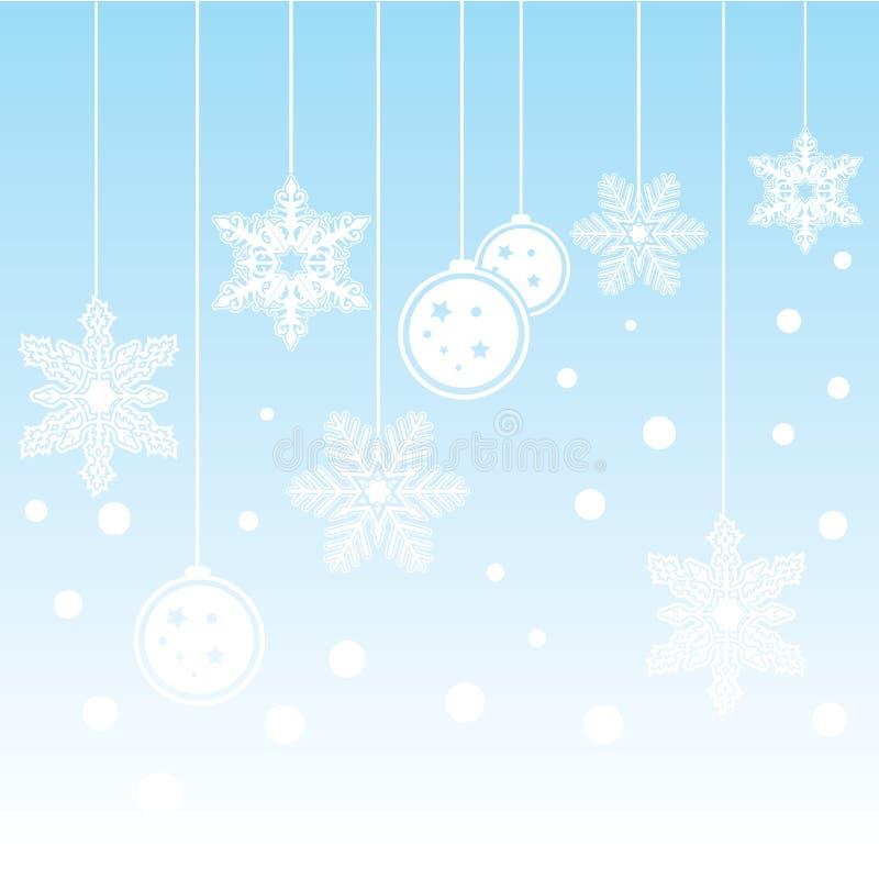 висеть рождества предпосылки иллюстрация вектора