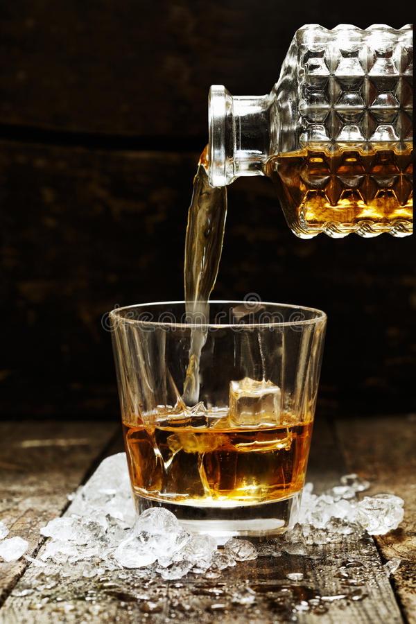 Виски или шотландский стоковые фотографии rf