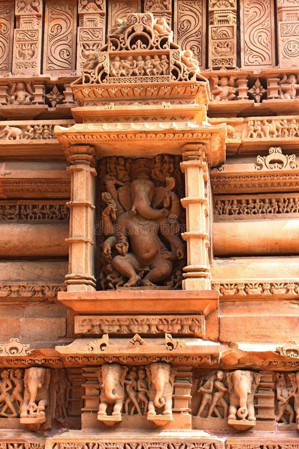 Виски Khajuraho и их эротичные скульптуры, Индия стоковое изображение
