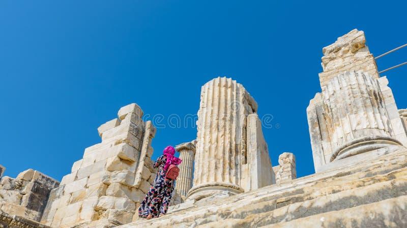 Висок Аполлона на Didyma в Didim, Aydin, Турции стоковое изображение rf