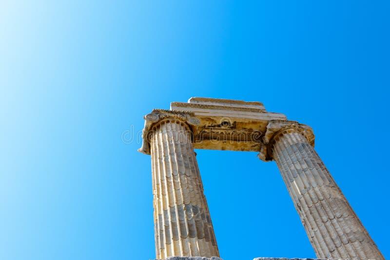Висок Аполлона на Didyma в Didim, Aydin, Турции стоковые изображения