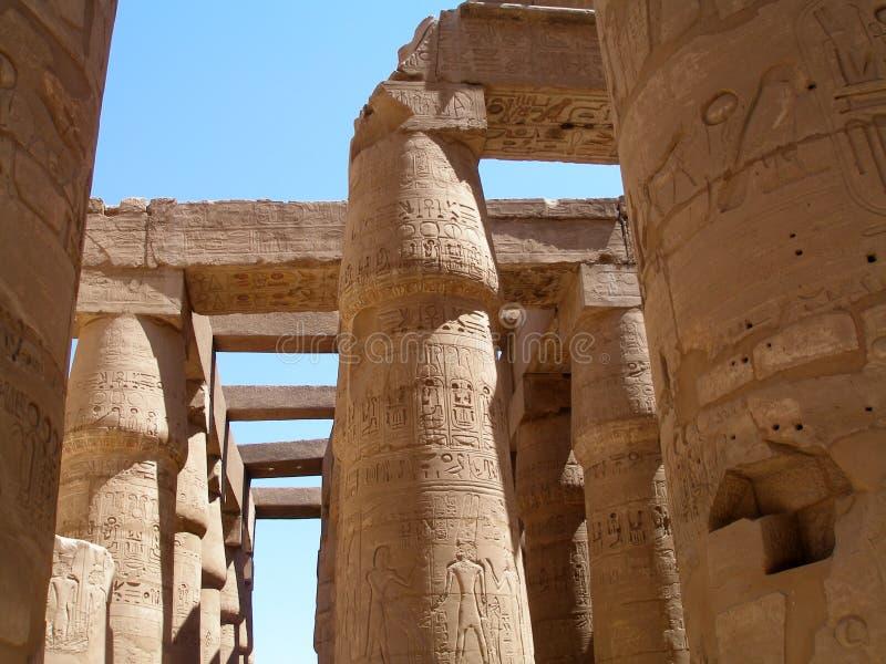 Висок, архитектура и искусство Karnak древнего египета стоковые изображения rf