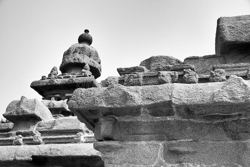 Висок берега на Mahabalipuram стоковая фотография rf