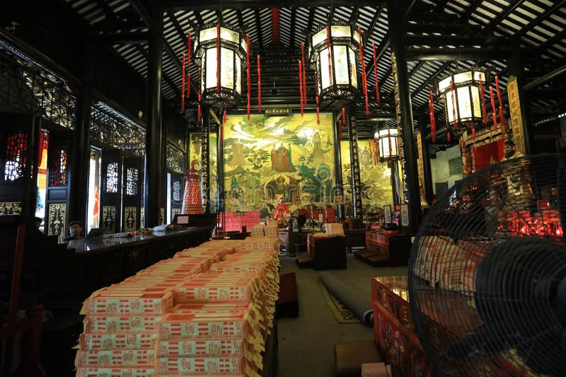 Висок #12 бога города Гуанчжоу - историческая достопримечательность Гуанчжоу - Гуандун - Китай стоковые фотографии rf