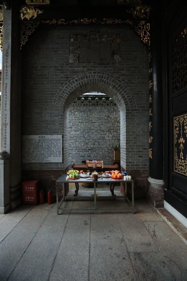 Висок 17 бога города Гуанчжоу - историческая достопримечательность Гуанчжоу - Гуандун - Китай стоковые фотографии rf