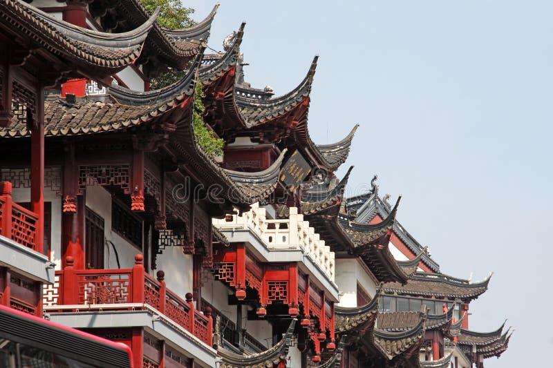 Висок бога города Шанхая стоковые фотографии rf