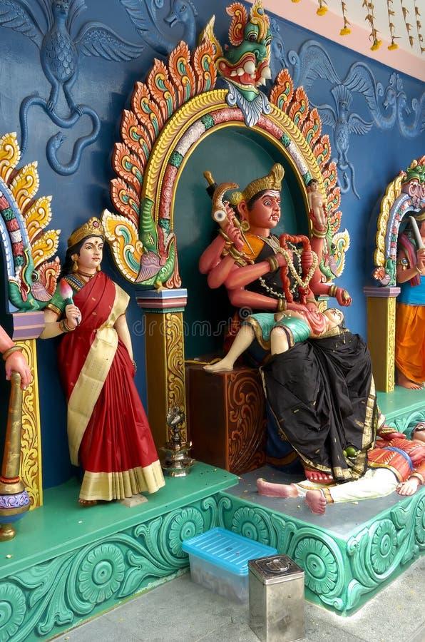 висок божеств индийский увиденный стоковая фотография