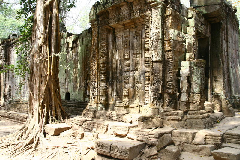 Висок комплекса ватта Angkor стоковое фото rf