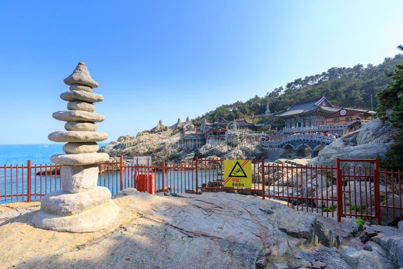 Висок взморья yonggungsa Haedong в Пусане стоковое фото