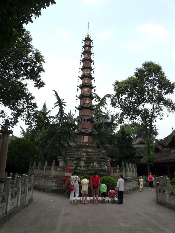 Висок в городе Guiyang, Китая стоковое изображение rf