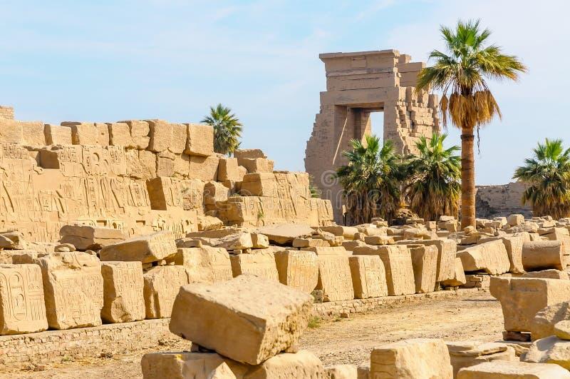 Висок в Луксоре, Египет Karnak. стоковое фото