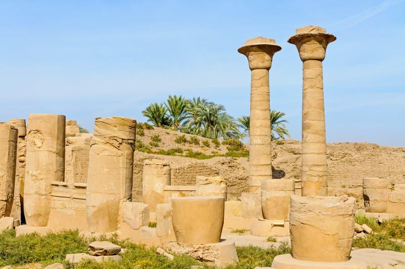 Висок в Луксоре, Египет Karnak. стоковые фотографии rf
